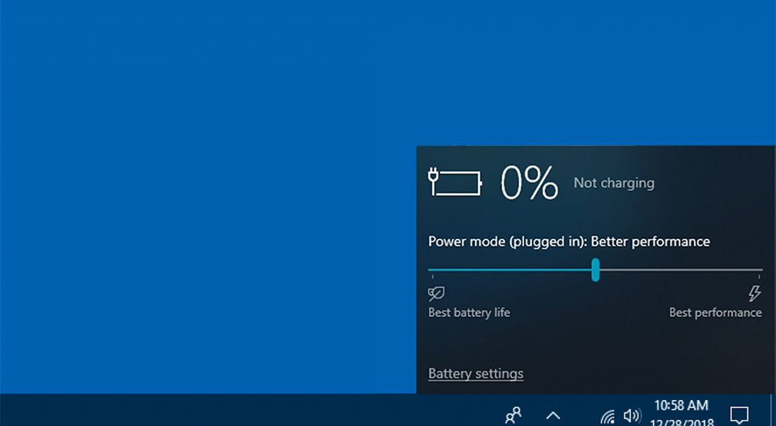 The battery is detected by the OS, but does not charge.