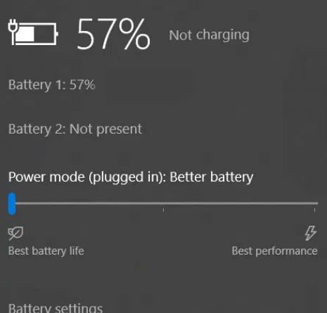 Battery is OK but doesn't charge when on.