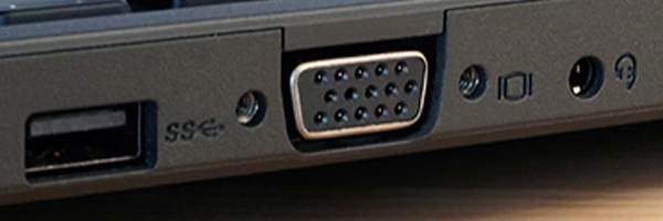 You can connect to external monitor using the VGA output port, if the screen is broken.