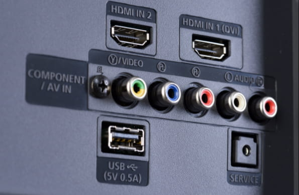 HDMI input ports on a TV, you can connect your laptop to it if the internal screen is broen.