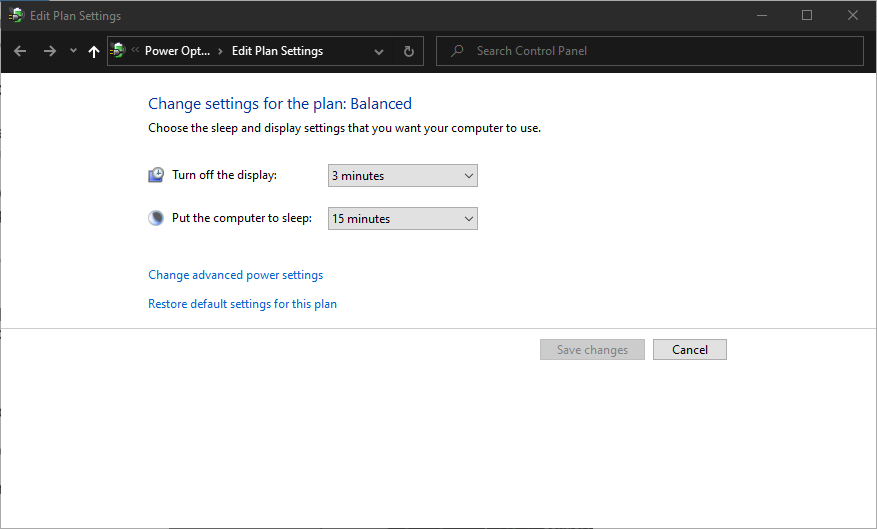 Editing power plan settings to fix a slow running laptop.
