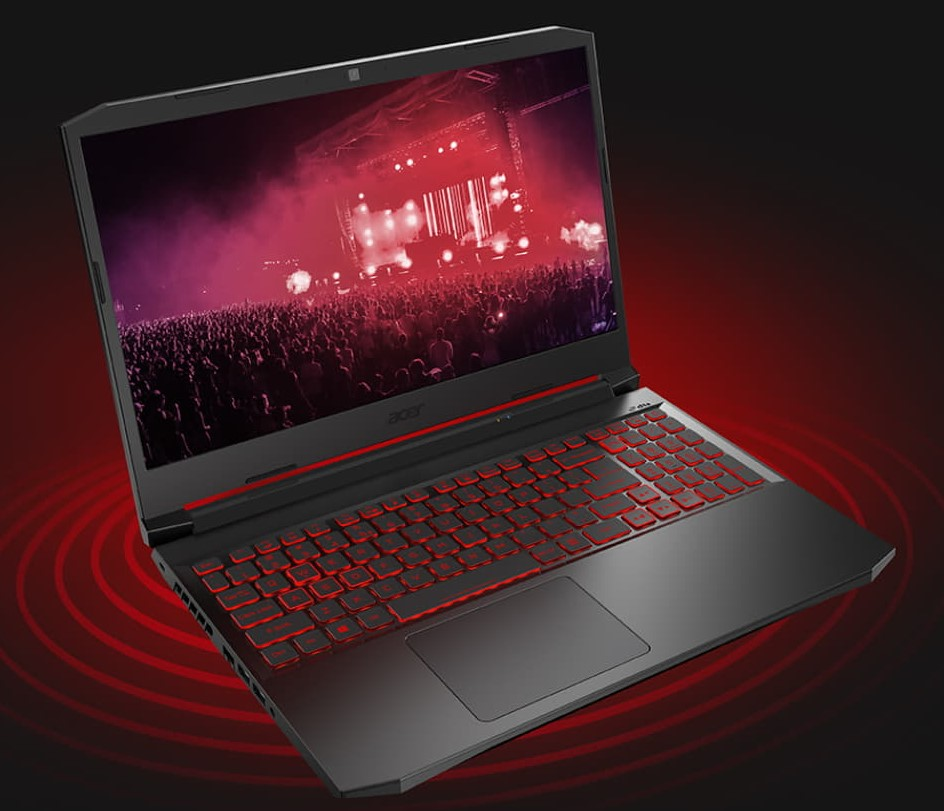 The Acer Nitro 5 has impressive battery backup for a gaming laptop.