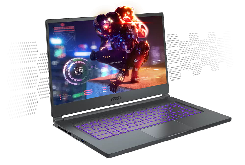 The MSI Stealth 15M is a highly portable gaming laptop.
