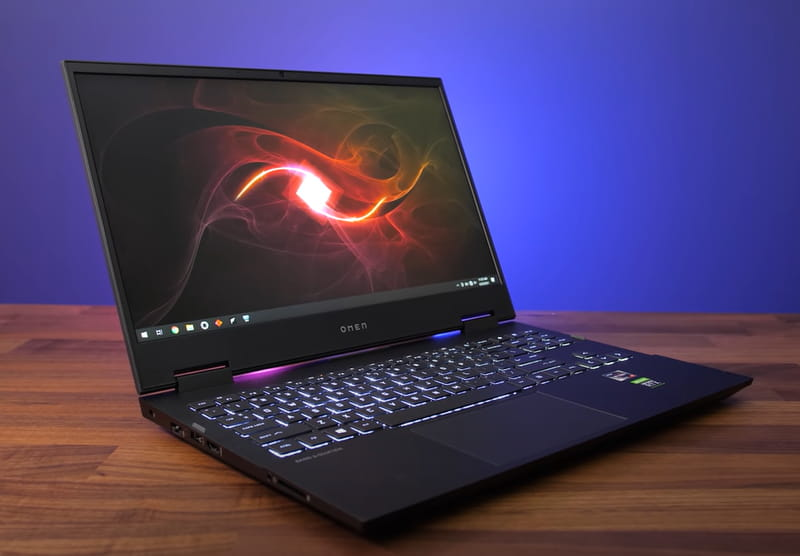 Hp Omen 15 -  A aming laptop with great battery life and performance.